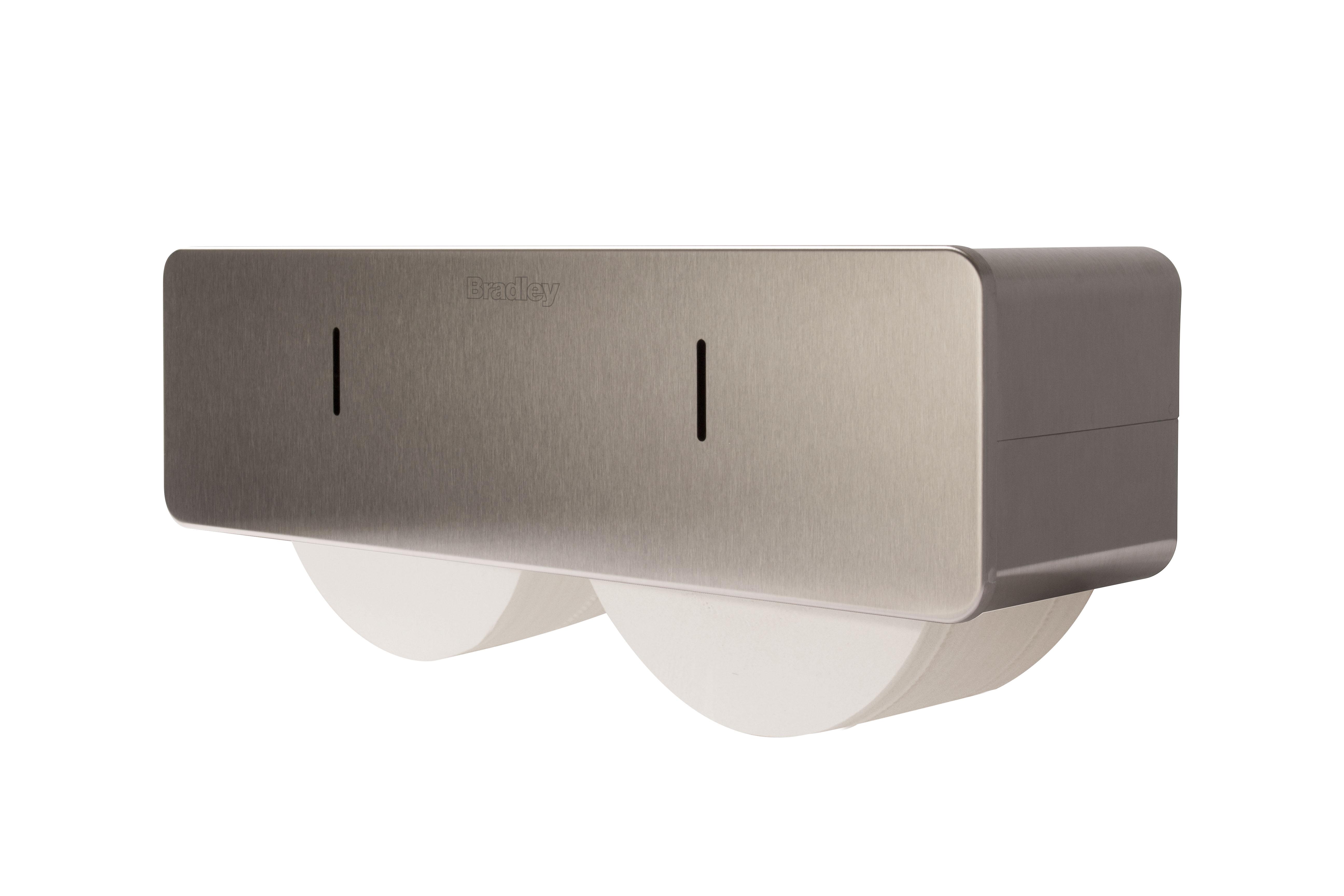 Coreless Jumbo Dual Roll Toilet Tissue Dispenser Bradley