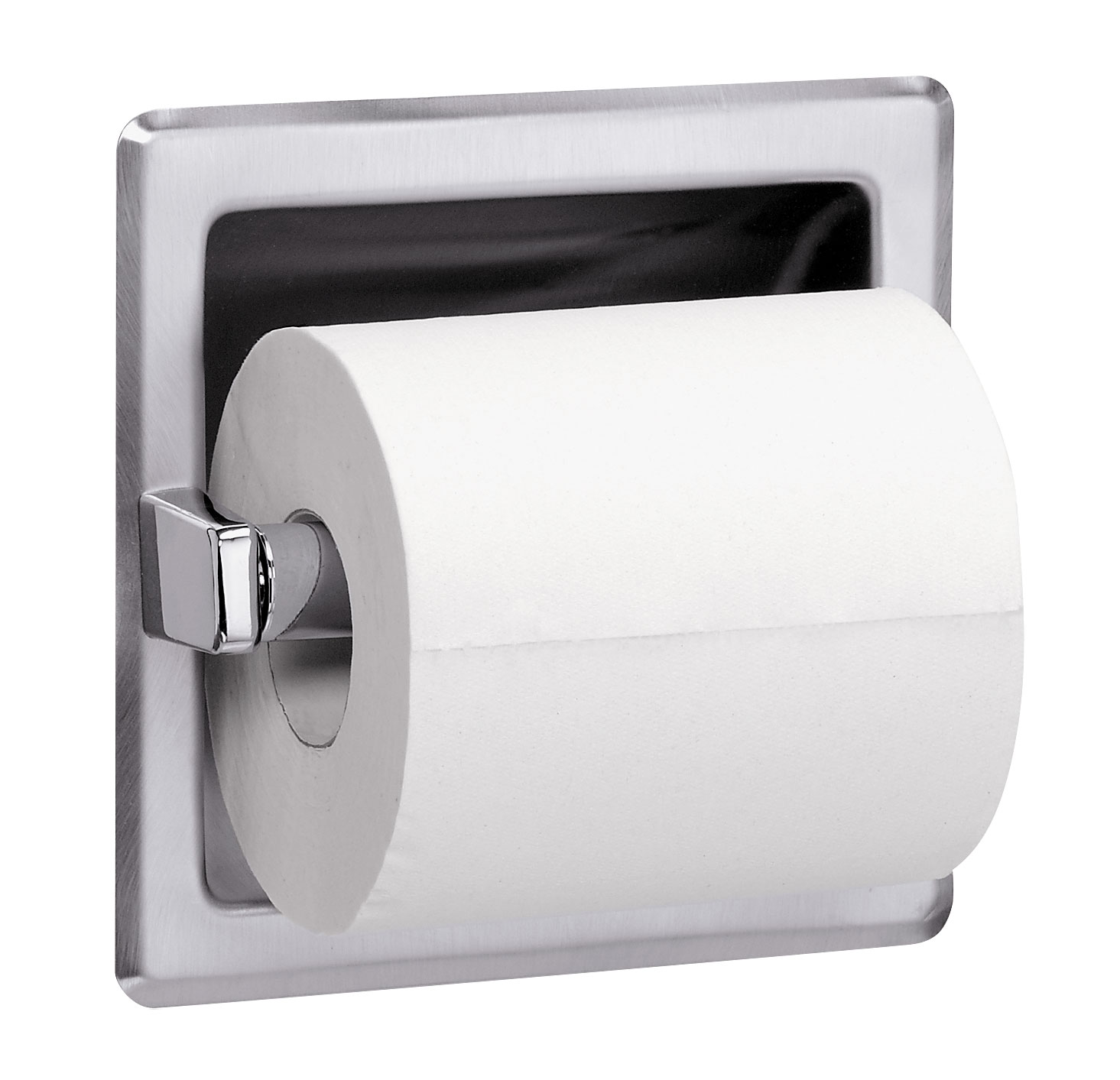 Recessed Single Roll Toilet Tissue Dispenser With Spare Roll ...