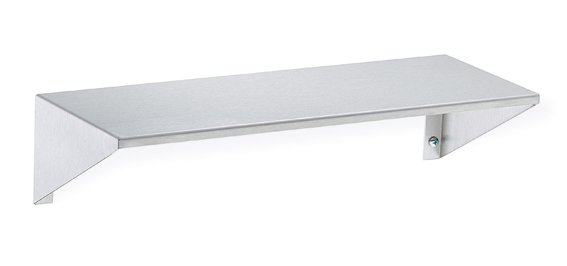 Stainless Steel Shelf With Integral End Brackets Bradley Corporation