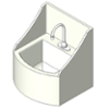 BIM model of a Deep Well Lavatory sink made of Terreon solid surface - Model TDWL22