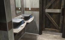 combined sink soap hand dryer fixture for a casual dining restroom - Advocate AV-Series